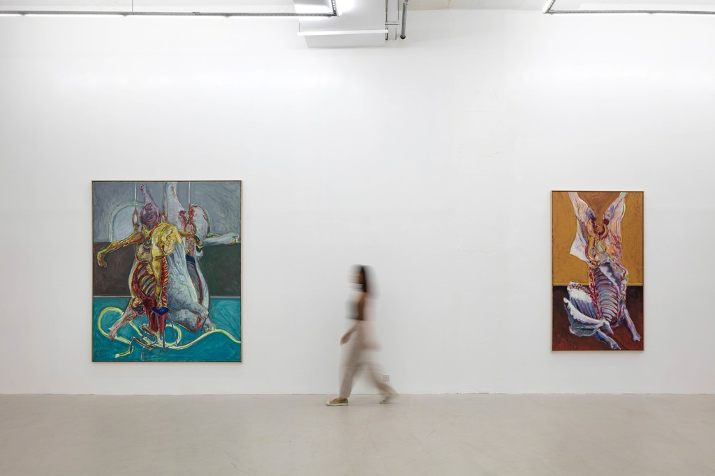 "Installation view of exhibition ""Norbert Tadeusz: MEAT 