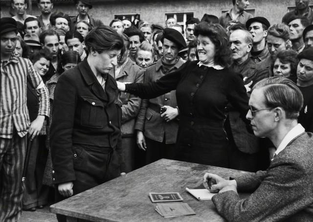, 'A Young Belgian Woman Is Denounced As A Gestapo Informer, Dessau, April, 1945,' 1945, Huxley-Parlour