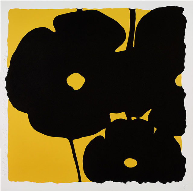 Donald Sultan, 'Reversal Poppies, Yellow and Black', 2015, Julie Nester Gallery
