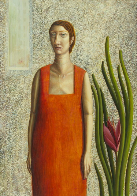 , 'Woman in orange dress,' 2017, Arusha Gallery