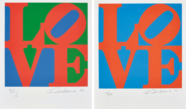 Robert Indiana, 'Book of Love: two plates', 1996, Phillips