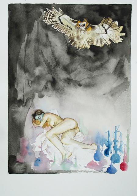 Troels Carlsen, 'Sleeping Nude and Owl #2', 2015, V1 Gallery