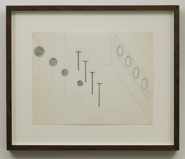 """, 'Untitled (Study for """"Locator with Loci""""),' 1972, Parafin"""