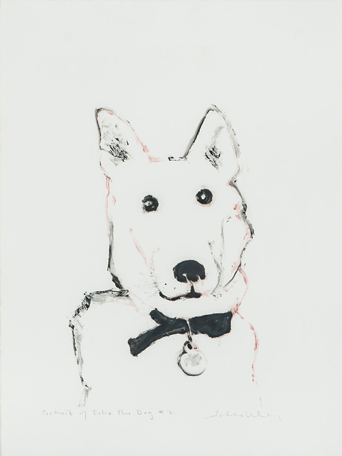 Fritz Scholder, 'Portrait of Felix the Dog #2', 1987, Print, Monotype, Larsen Gallery