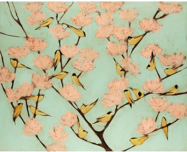 Joseph Bradley, 'Birds', 2019, Painting, Mixed media, Shain Gallery