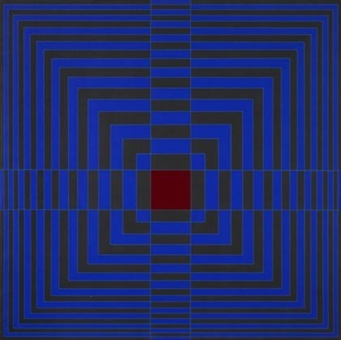, 'Blue cross with red,' 1968, Museo de Arte Contemporáneo de Buenos Aires
