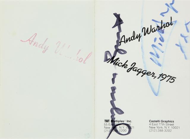 Andy Warhol, 'Mick Jagger – Tickets', 1975, Print, Ten colored serigraphs on paper, Bertolami Fine Arts