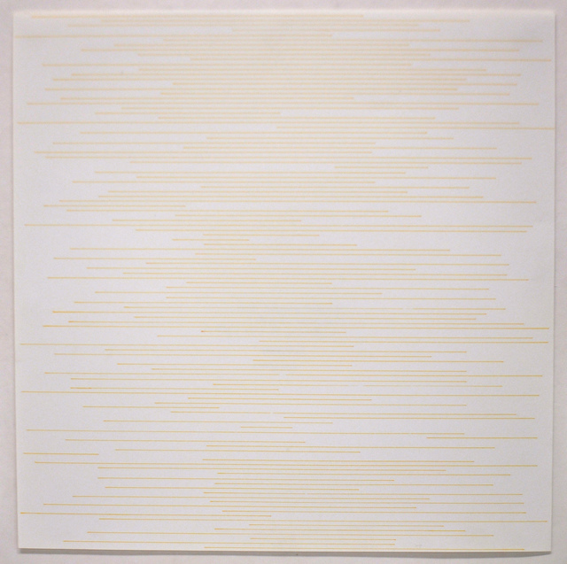 Sol LeWitt, 'Stranght parallel lines of random length not touching sides (yellow)', 1972, Dep Art Gallery