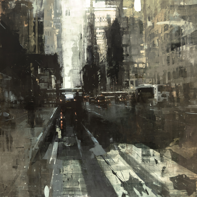 Jeremy Mann, 'NYC #42', 2019, Painting, Oil on Panel, Maxwell Alexander Gallery
