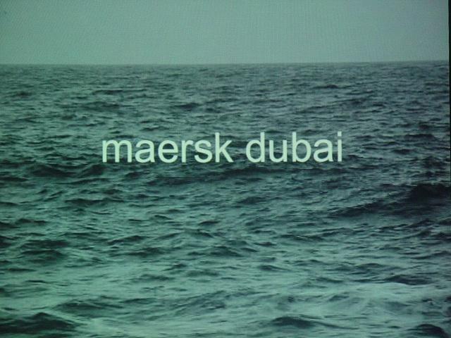 , 'Maersk Dubai,' 2007, ANCA POTERASU