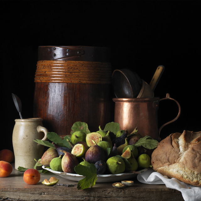 , 'Still Life with Figs and Apricots, after L.M.,' 2014, Robert Mann Gallery