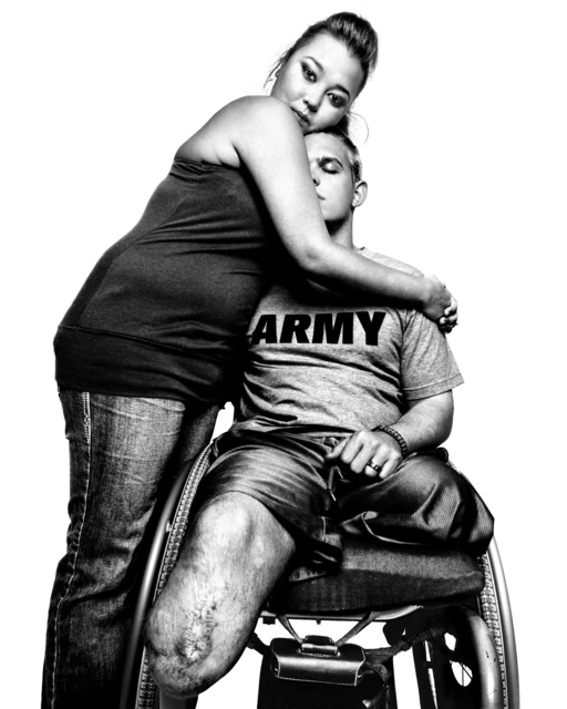 , 'SERVICE: Sergeant Tim Johannsen & his wife, Jacquelyne Kay.Walter Reed Army Medical Center.,' 2008, Milk Gallery
