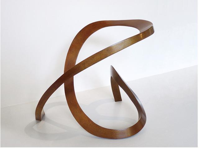Gerard Tsutakawa, 'Red Uzumaki', 2013, Sculpture, Bronze, Sculpturesite Gallery