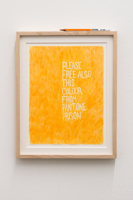 , 'Untitled (Please free also this color from Pantone prison),' 2013, Galeria Plan B