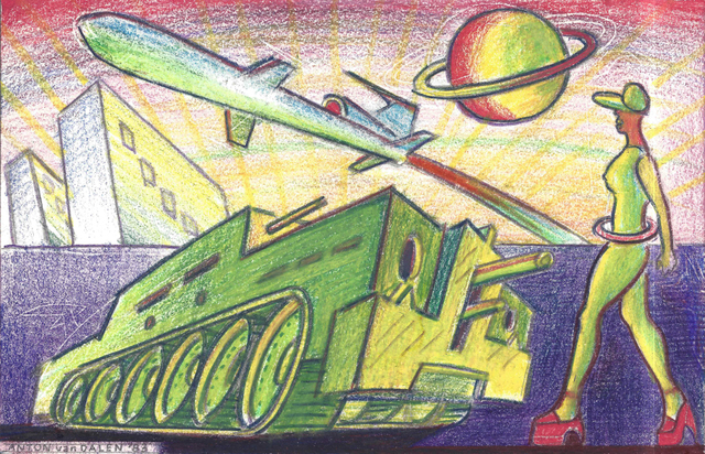 , 'Transgalactic Tank and Missile Plaza,' 1983, P.P.O.W