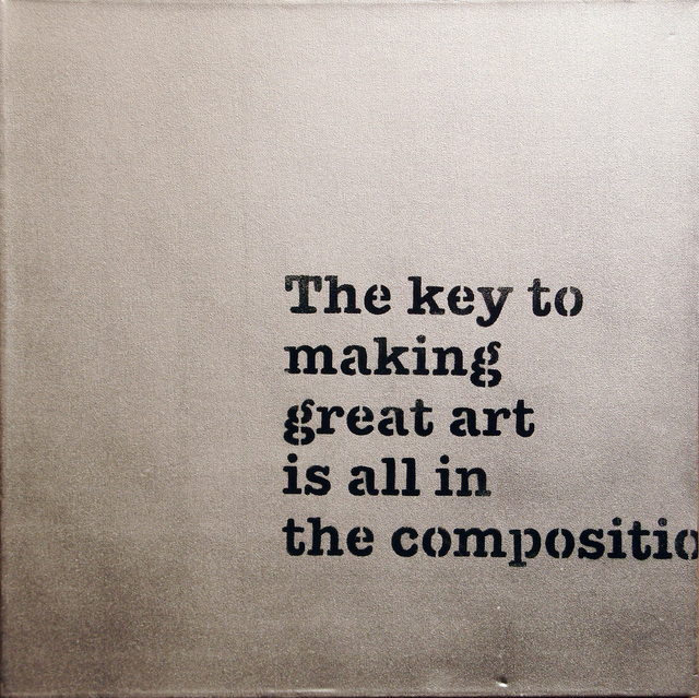 Banksy, 'The Key to Making Great Art is all in the Composition,' 2005, Lazinc