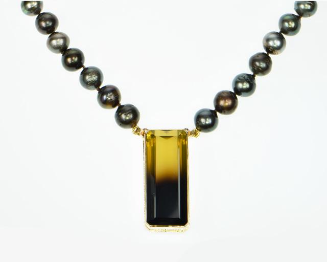 , 'Bi-color Lemon Citrine necklace with Baroque Tahitian pearls,' , Miller White Fine Arts