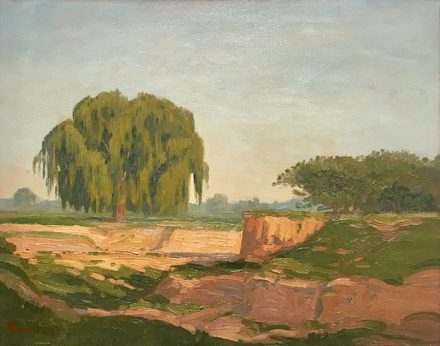 , 'Landscape with willow tree,' , Absolut Art Gallery