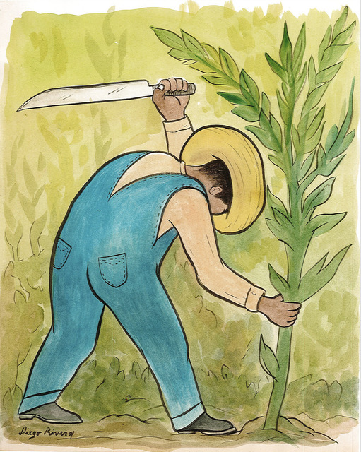 Diego Rivera, 'Cortador de Maíz', Drawing, Collage or other Work on Paper, Watercolour on paper, Galerie AM PARK