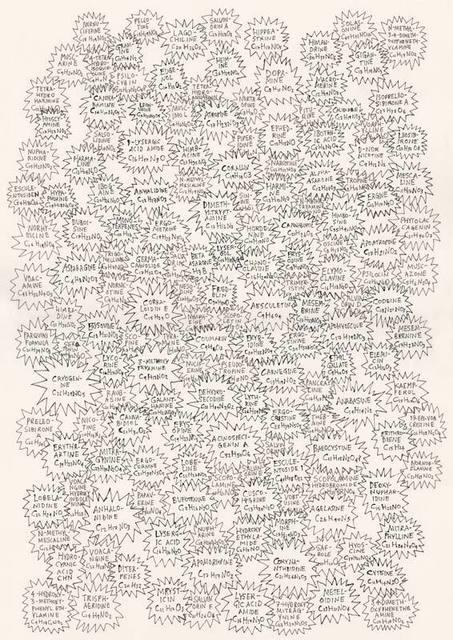 , 'HFT The Gardener/Diagrams/168 Alkaloids,' 2015, P.P.O.W