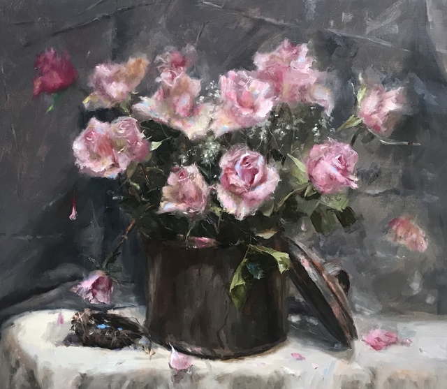 Rosanne Cerbo, 'Nesting with Roses', 2019, The Galleries at Salmagundi