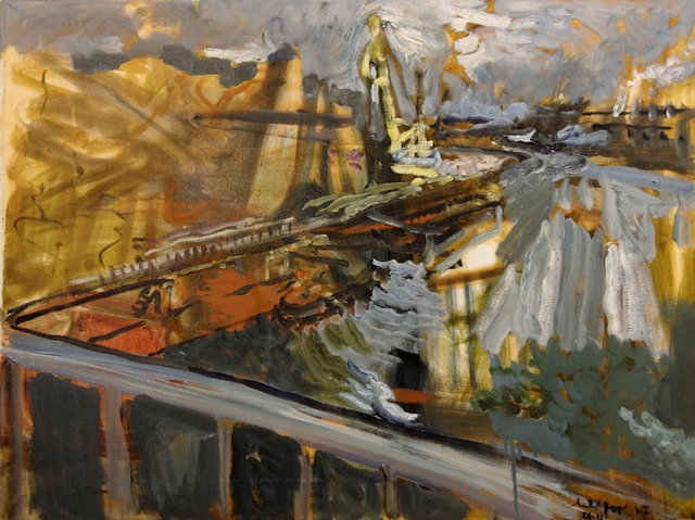 , 'Podil from the Old Sailors Island Bridge, November 26, 2017,' 2017, Robert Kananaj Gallery