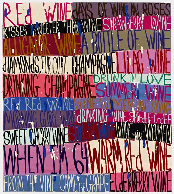 , 'Red Wine,' 2016, Tayloe Piggott Gallery