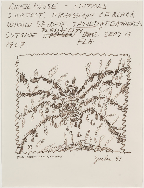, 'Subject: Photograph of Black Widow Spider: Tarred & Feathered Outside Plant City, FLA, Sept 19, 1907 (Riverhouse Editions Project),' 1991, Parrish Art Museum