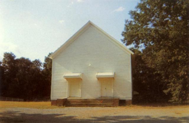 William Christenberry, 'Church Between Greensboro and Marion, Alabama', 1973, Jackson Fine Art