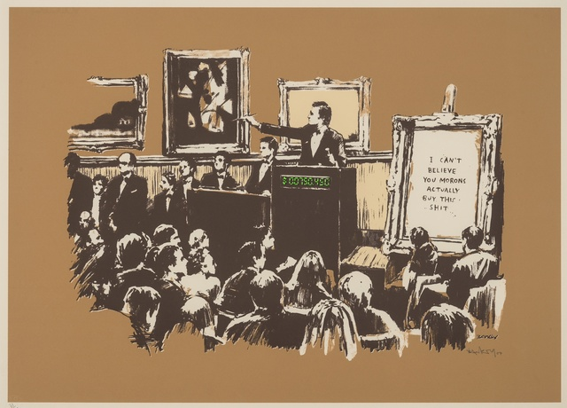 Banksy, 'Morons (Sepia)', 2007, Forum Auctions