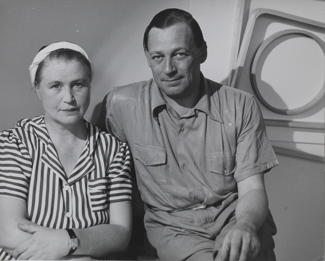 , 'Aino Marsio‐Aalto and Alvar Aalto in the Artek‐Pascoe showroom, New York,' 1940, Bard Graduate Center Gallery