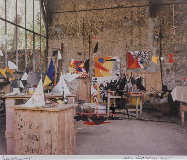 Pedro E. Guerrero, 'Alexander Calder's Paint Studio, Saché, France ', 1965, Photography, Color pigment print on paper, Edward Cella Art and Architecture