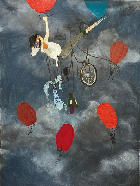 Denise Duong, 'Take Me Away', 2020, Painting, Paper collage and acrylic on canvas, J GO Gallery