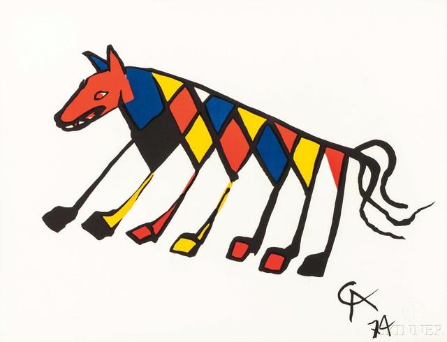 Alexander Calder, 'Five Plates from the Suite Flying Colors: Beastie, Skybird, Friendship, Skyswirl', 1974, Skinner