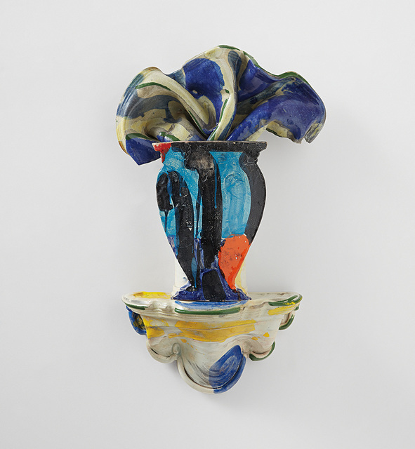 Betty Woodman, 'Untitled sculpture (vase on wall bracket)', circa 1990, Phillips