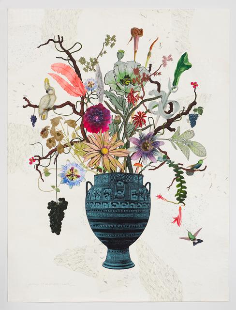 , 'Greek Vase with Cockatoo, Rat Tail Cactus and Passion Flowers,' 2016, Lyndsey Ingram Ltd.