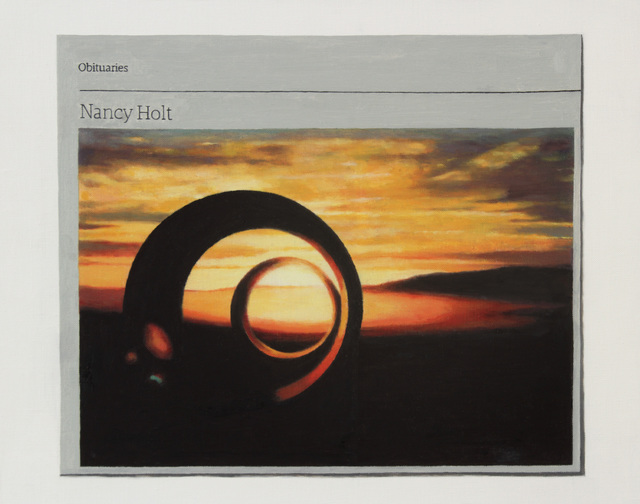 , 'Obituary: Nancy Holt,' 2015, Charlie Smith London