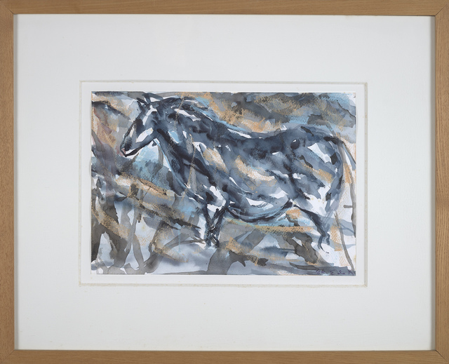 , 'Cave #84, Blue and Gold Horse,' 1986, Berry Campbell Gallery
