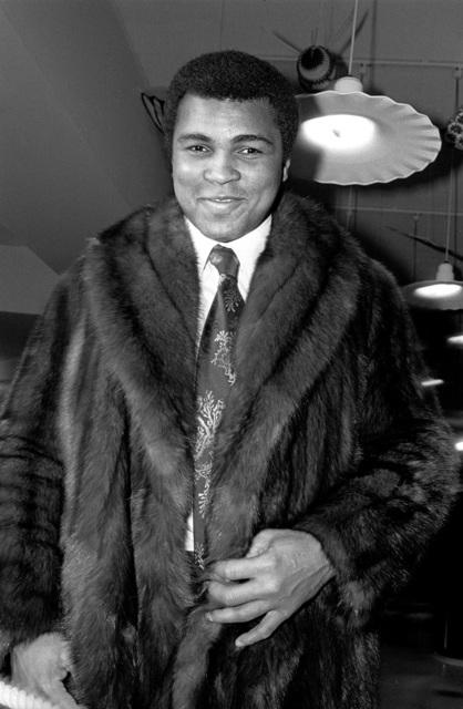 , 'Muhammed Ali modeling a fur coat,' 1977, Madelyn Jordon Fine Art