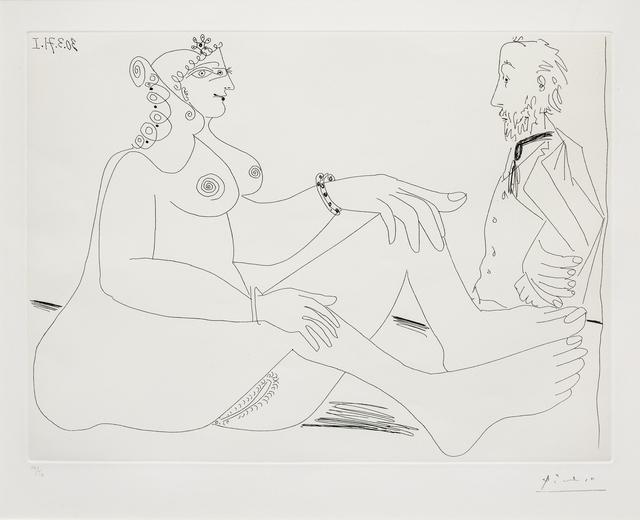 Pablo Picasso, 'Fille au Bracelet, avec Degas les Mains dans le Dos, from 156 Series', 1971, Hindman