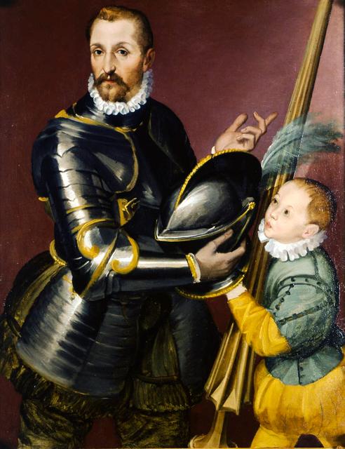 , 'Armed gentleman with pageboy,' ca. 1550, Robilant + Voena