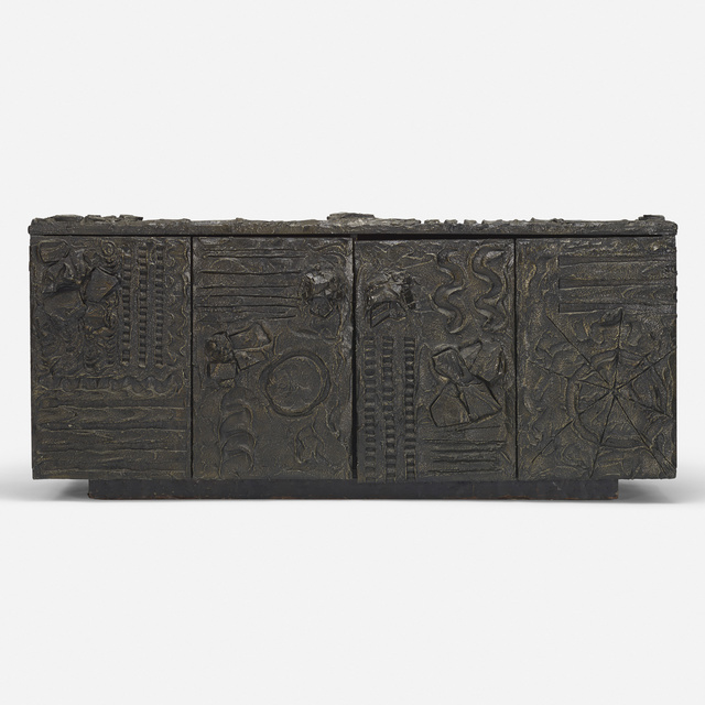Paul Evans, 'Sculpted Bronze cabinet', 1970, Wright