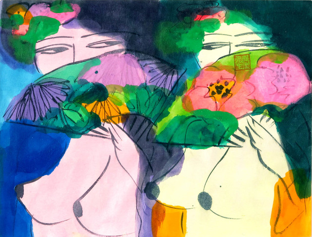Walasse Ting 丁雄泉, 'We are 2 sisters', ca. 1970, Galerie Moderne Silkeborg