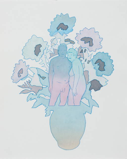 , 'Modern couple (blue),' 2018, Russo Lee Gallery