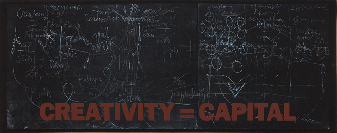 Joseph Beuys, 'New York Subway Poster (Creativity=Capital),' 1983, Phillips: Evening and Day Editions (October 2016)