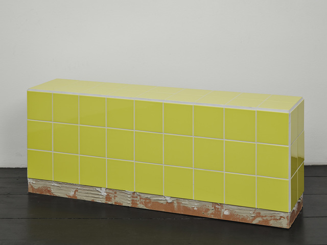 , 'Reading bench (yellow),' 2016, Isabella Bortolozzi Galerie