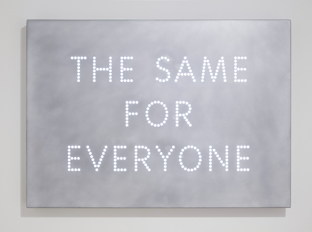 , 'The Same For Everyone,' 2017, Parafin