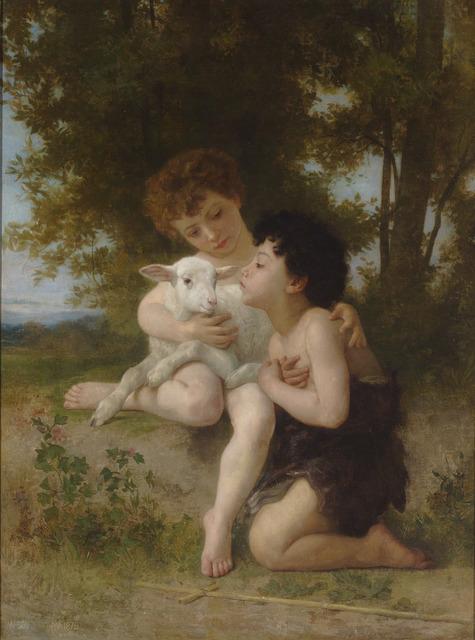 , 'Les Enfants à L'Agneau,' 1879, M.S. Rau