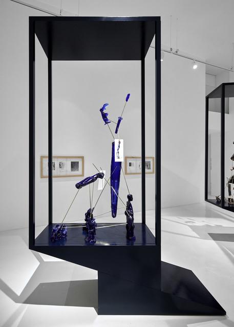 , 'Vitrina IV; azul IKB-sampuru,' 2018, Galería Hilario Galguera