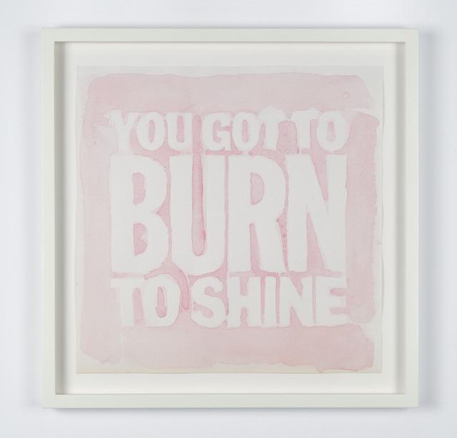 , 'YOU GOT TO BURN TO SHINE,' 2012, Palais de Tokyo